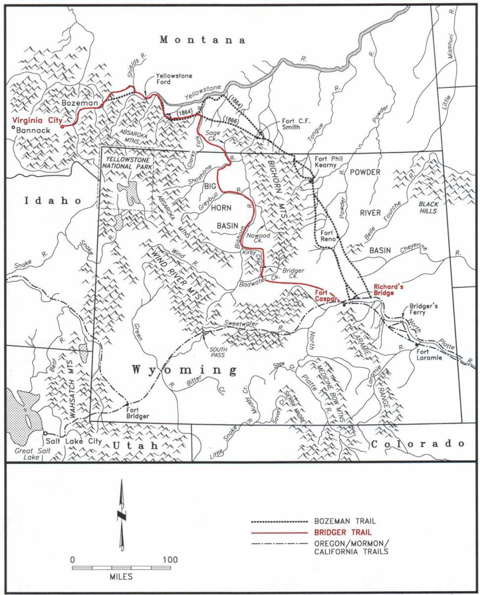 Madison River Montana Map.The Bridger Trail A Safer Route To Montana Gold Wyohistory Org