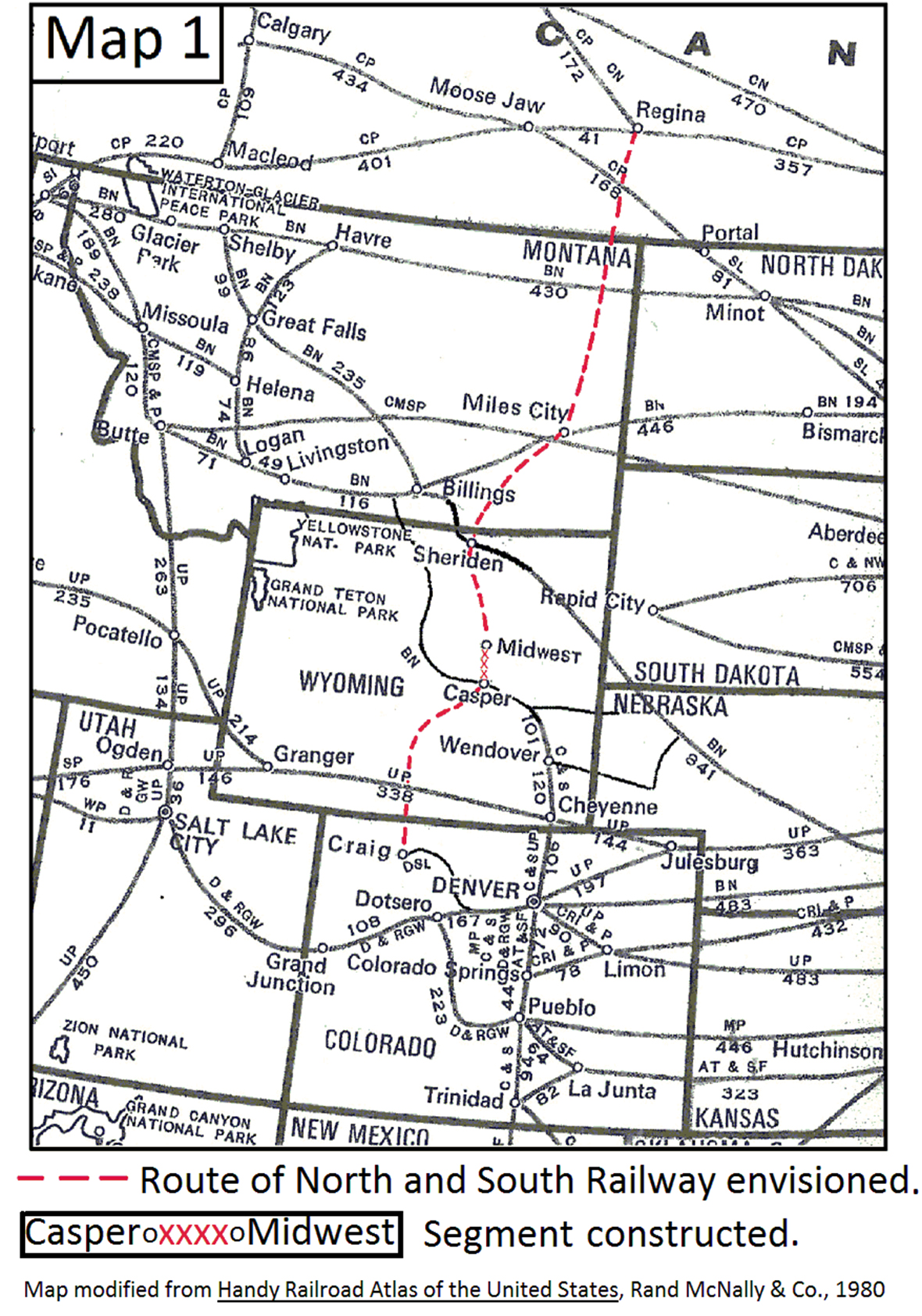 The Wyoming North And South Railroad 1923 1935