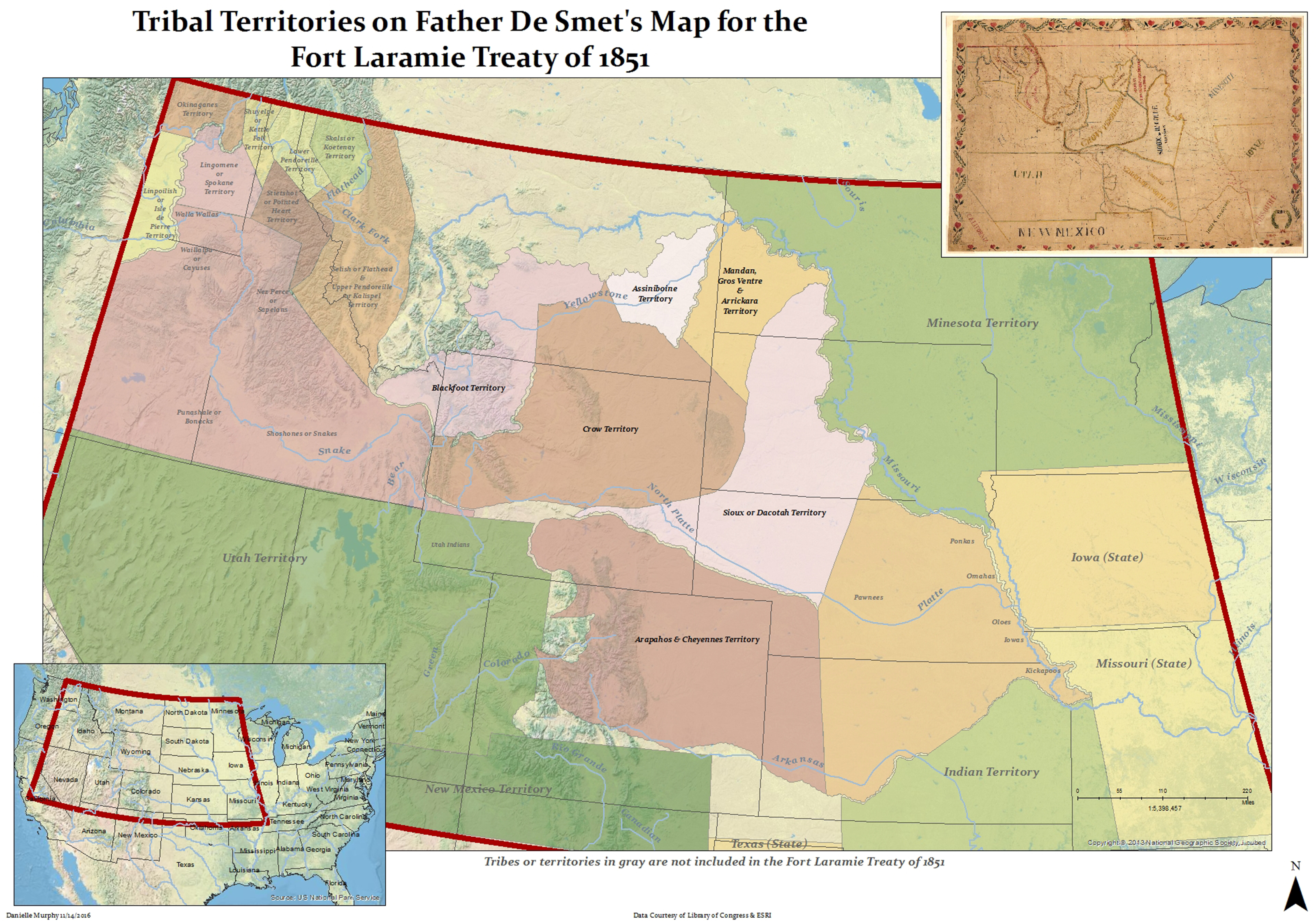 Digital Toolkit Father De Smets Map Tribal Boundaries and the