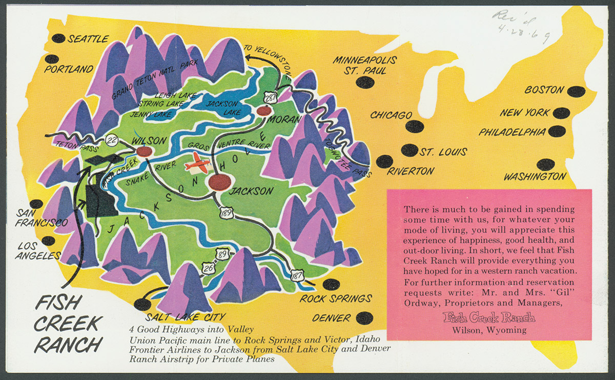 Romancing The West Dude Ranching In Wyoming WyoHistoryorg - Map of northern wyoming