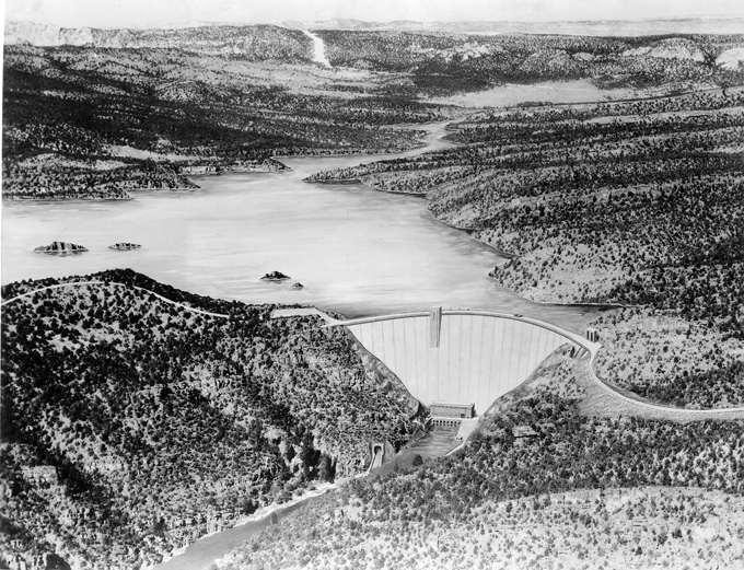 Flaming Gorge Dam and Reservoir   WyoHistory org