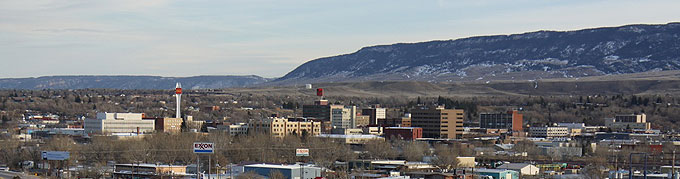 Casper today, looking southeast across downtown. Tom Rea photo.