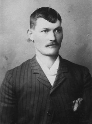 Nate Champion, who ran a small herd of cattle in the Hole-in-the-Wall country, was murdered by the invaders of Johnson County April 9, 1892. Courtesy Jim Gatchell Memorial Museum.
