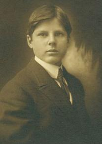 Bob David at 14, while a student at Ridley College, a boarding school in Ontario.