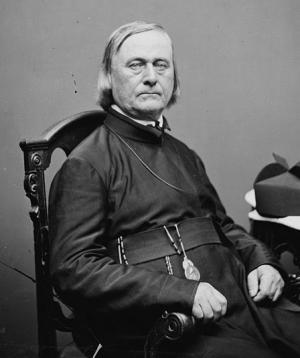 Father Jean-Pierre De Smet, 1860s. Library of Congress.
