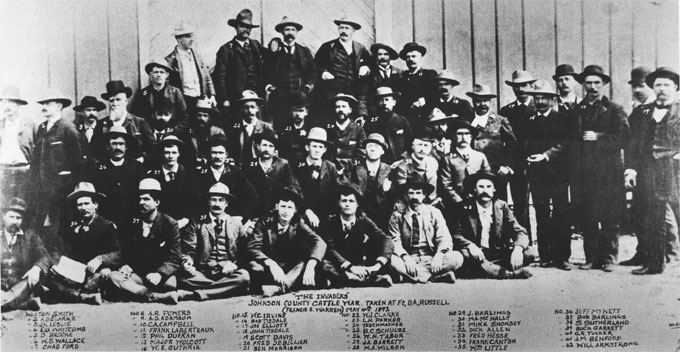 In the 1880s, the cattle barons in Johnson County and across Wyoming