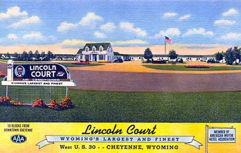 The Lincoln Court opened in 1927 to take advantage of Lincoln Highway traffic. Wyoming Tales and Trails.