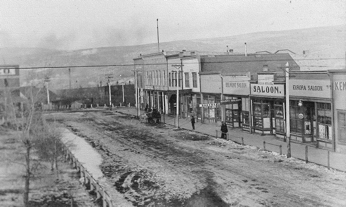 Downtown Kemmerer, 1913. American Heritage Center.