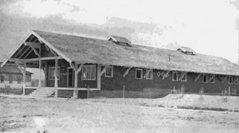 The big bunkhouse at Lost Cabin was built in 1916.