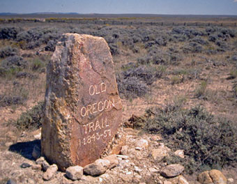 The marker at the summit of South Pass. Randy Wagner photo.