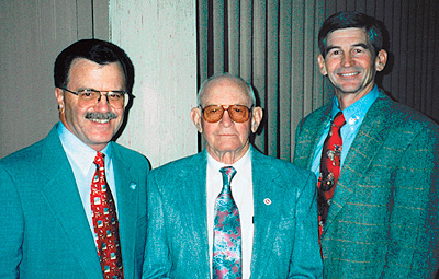 The McMurry Oil Company: (l-r) John Martin, Neil, and Mick McMurry. (MOC photo)