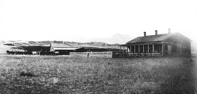 The invaders holed up at the T.A. Ranch south of Buffalo, Wyo. Courtesy Jim Gatchell Museum.