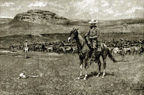 The cattle boom of the 1880s created Wyoming's indelible image as the Cowboy State.