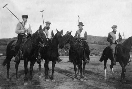 Polo players near Big Horn, around 1910. Sheridan County Museum.