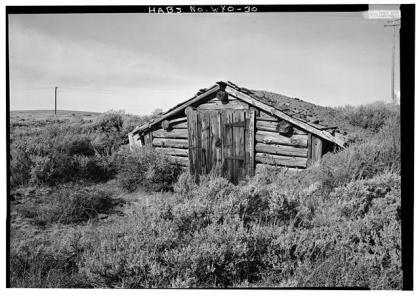 Prospector's cabin near the Carissa Mine, 1974. Library of Congress photo.