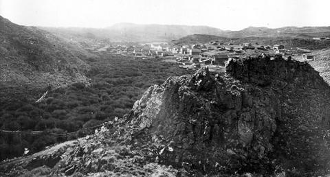 South Pass City from the east, 1870. W.H. Jackson photo.
