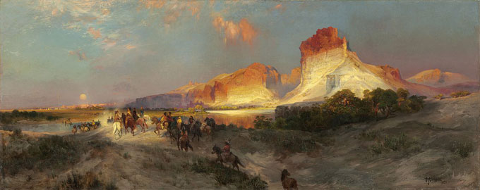 "Thomas Moran's ""Green River Cliffs, Wyoming"" painted in 1881, offers a romantic version of Sweetwater County's open expanse. National Gallery of Art."