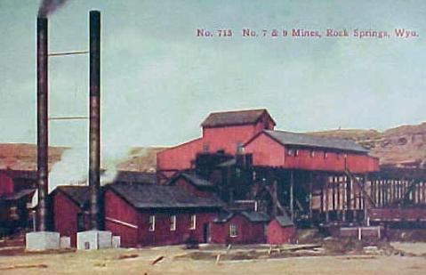 Union Pacific Coal Mines nos. 7 and 9, Rock Springs. No date. Wyoming Tales and Trails.