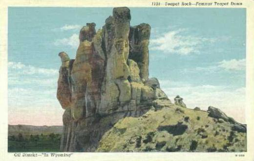 Teapot Rock in the 1920s, before the