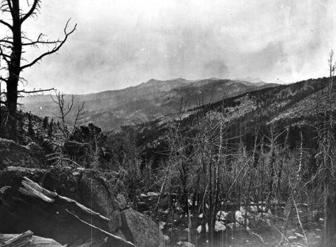 Wind River Mountains, north of South Pass, 1870. W.H. Jackson, USGS photo.