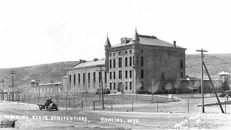 The Wyoming State Prison, shown here in 1926, is now open to tourists and the general public as the Wyoming Frontier Prison. Wyoming State Archives photo.