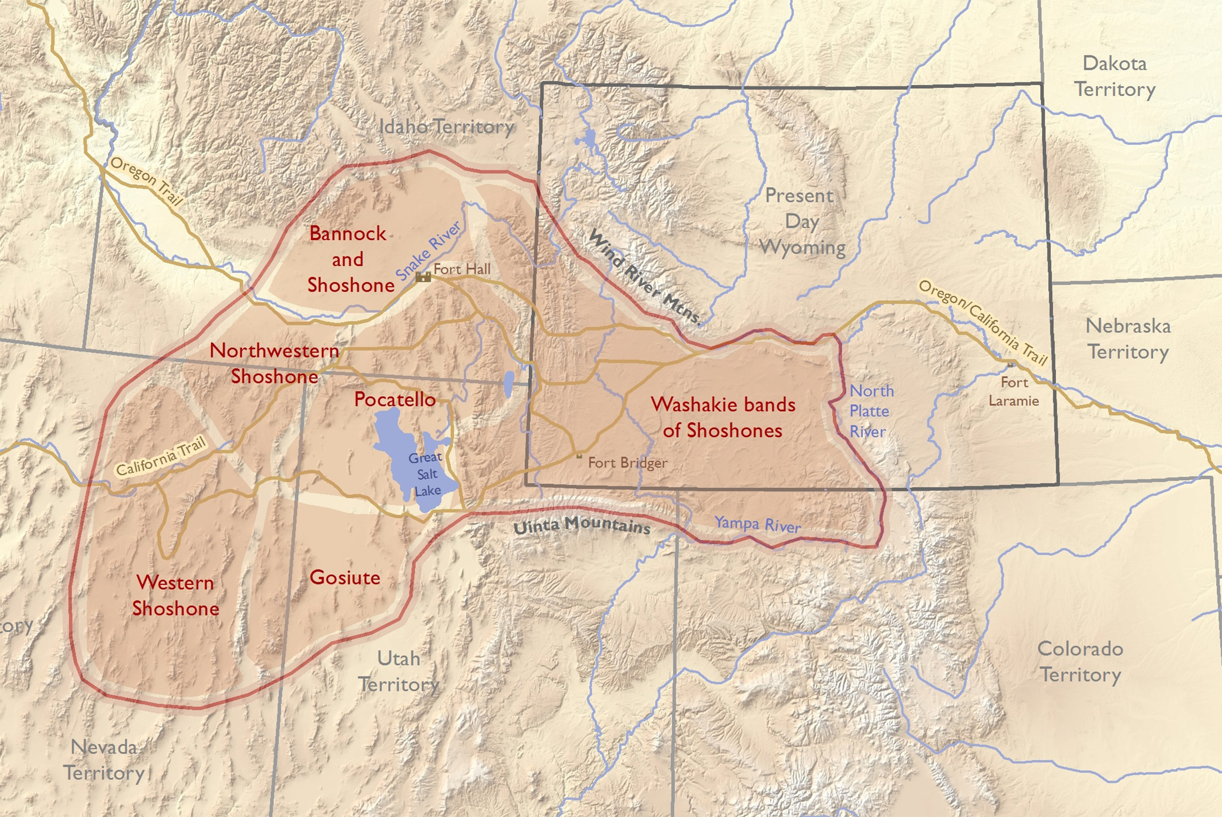 Shoshone Idaho Map.Coming To Wind River The Eastern Shoshone Treaties Of 1863 And 1868