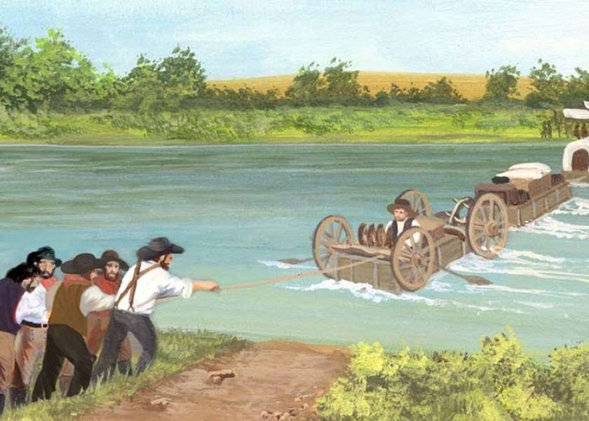 Oregon trail wyohistory emigrants bound for oregon or california in the 1860s on the government built lander trail faced serious dangers crossing the new fork river freerunsca Choice Image