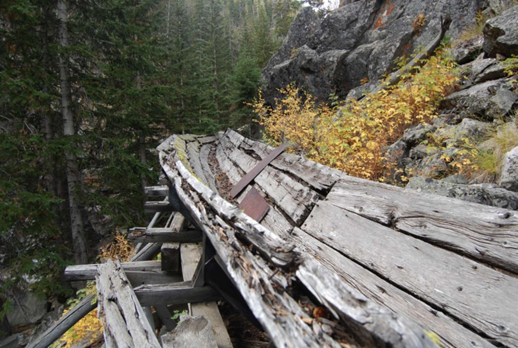 The Warm Spring Canyon Tie Flume | WyoHistory org
