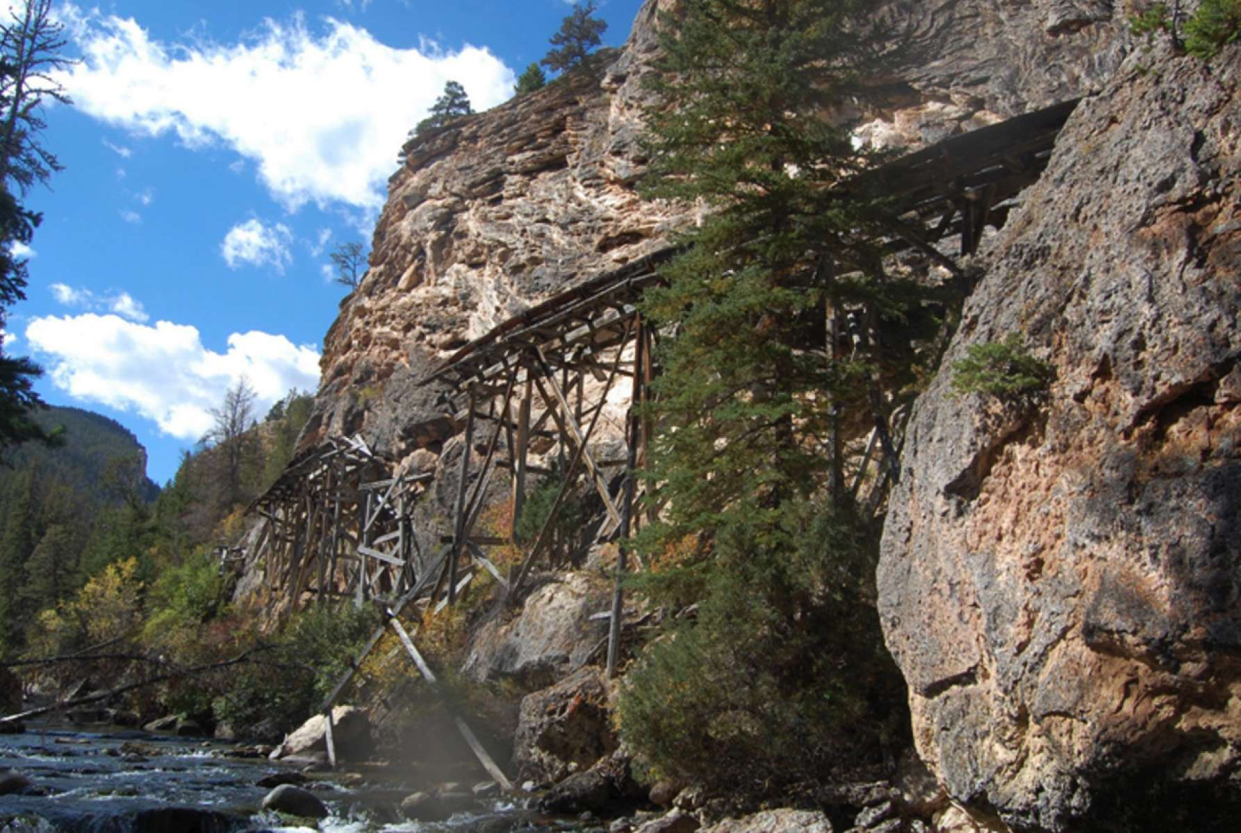 The Warm Spring Canyon Tie Flume   WyoHistory org