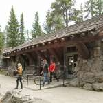 The museum at Fishing Bridge on the north shore of Yellowstone Lake is one of three remaining small, roadside museums built in the park in the 1920s and '30s. NPS.