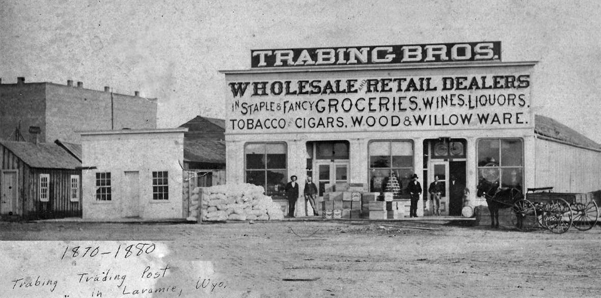 Before Laramie built a courthouse, court met at the the Trabing Brothers store. Here, the first women served on juries. Courtesy Nancy Trabing Mickelson.