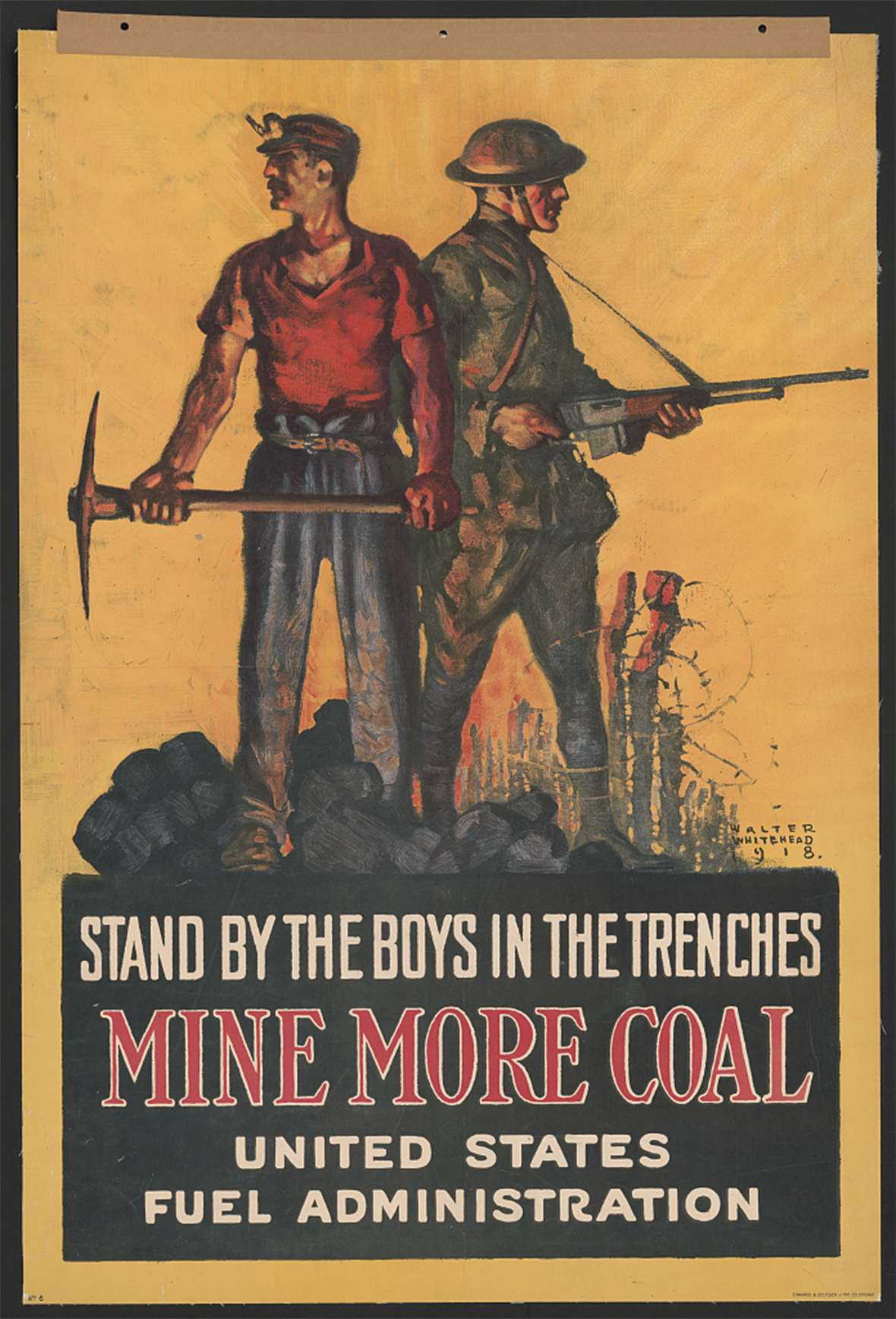 This and hundreds more World War I posters may be viewed on line. Library of Congress.