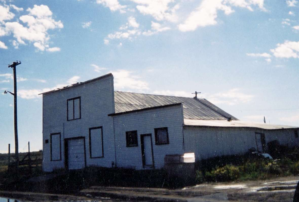 The Trabings first opened a small store in Medicine Bow in 1869. Eventually they sold a large establishment there to J. W. Hugus in 1880. One of the Trabing buildings in Medicine Bow, shown here, still stands today. Author photo.