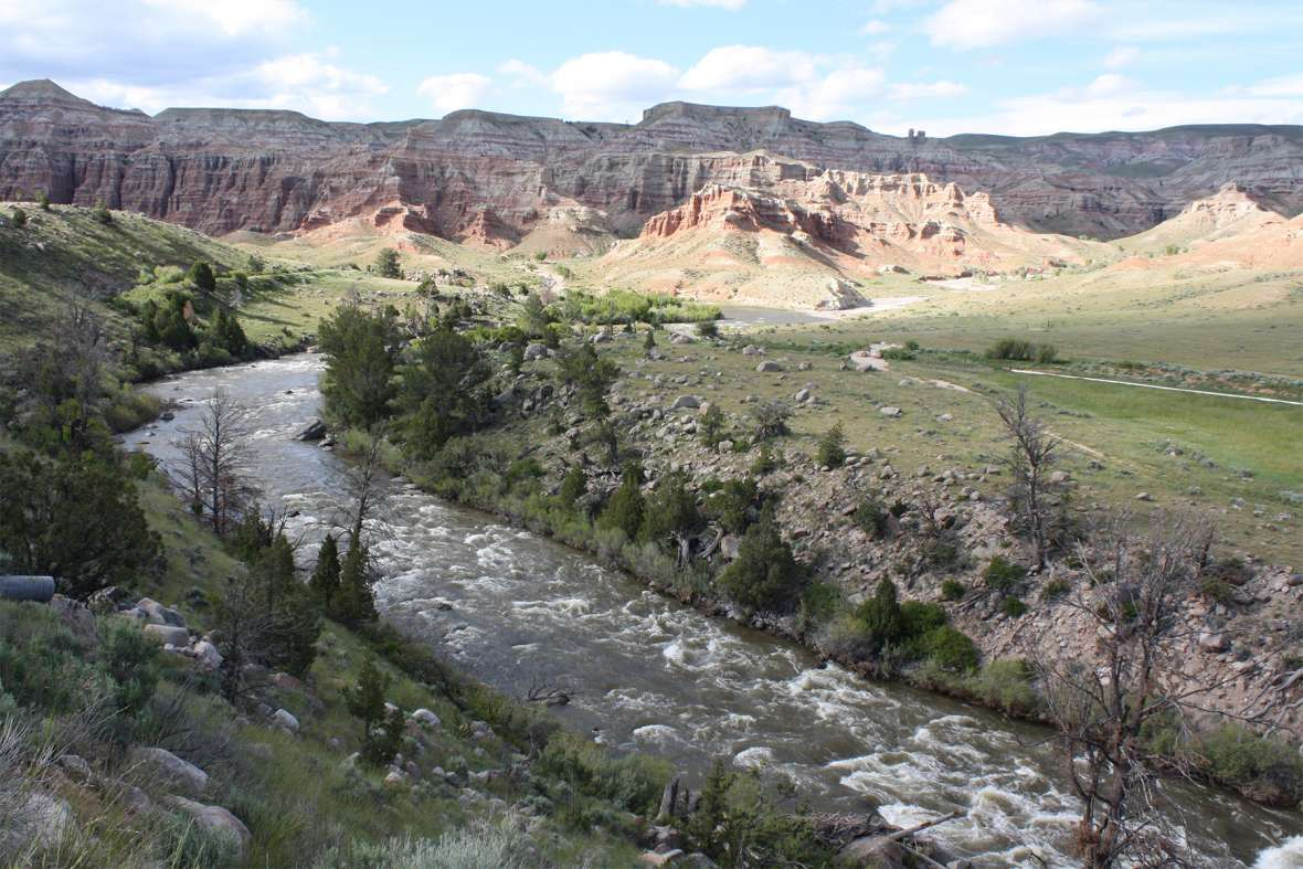 The U.S. Supreme Court ruled early in the 20th century that treaties reserving lands for tribes also reserved tribal rights to the water that flowed through those lands. Here, the main stem of the Wind River flows below Dubois, Wyo., west and upstream from the Wind River Reservation. Tom Rea