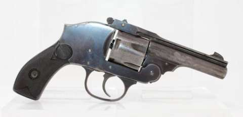 Joseph Omeyc's .38-caliber Eastern Arms Company revolver, similar to this one, had a shrouded hammer and was designed for easy pocket concealment. Guns International.