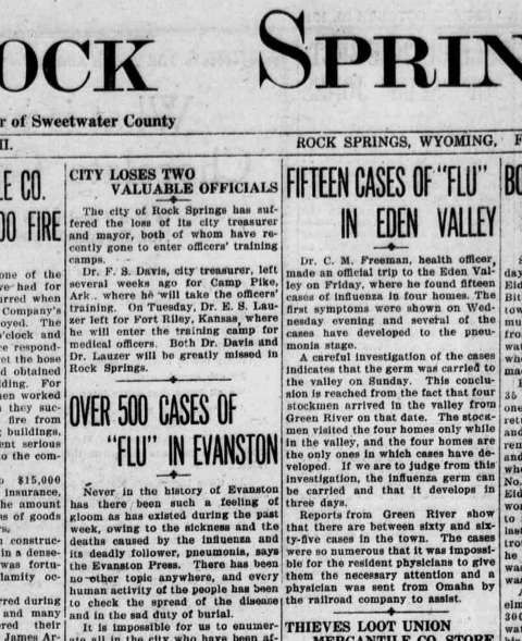 The 1918 Flu: A Worldwide Epidemic Sweeps Wyoming | WyoHistory org