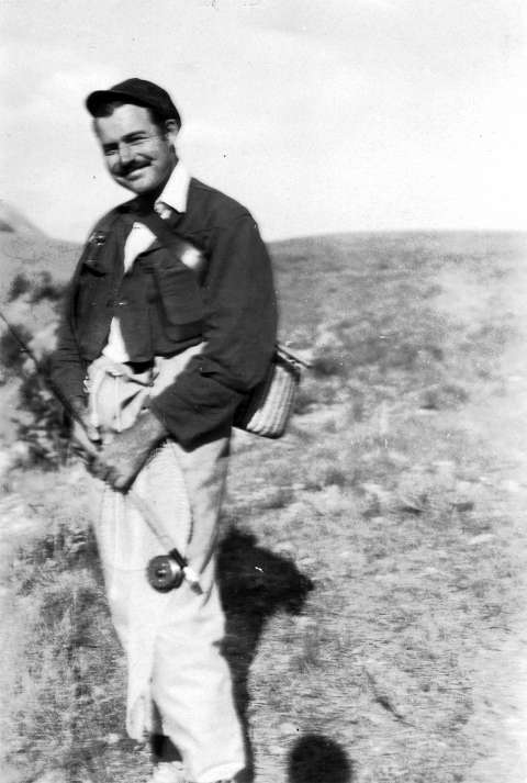 Hemingway in Wyoming, 1928. That summer he stayed at the Folly Ranch and at Spear-O-Wigwam, dude ranches in the Bighorn Mountains west of Sheridan. He loved to hunt and fish, one wrangler remembered decades later, and even more, he loved to talk about it. John F. Kennedy Library.