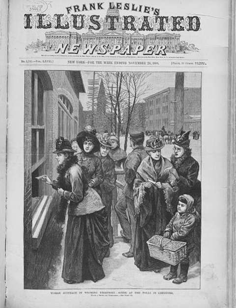 Women voting in Cheyenne, Wyoming Territory, 1888. Library of Congress