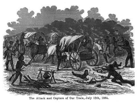 Attack on the Kelly-Larimer Wagon Train | WyoHistory org