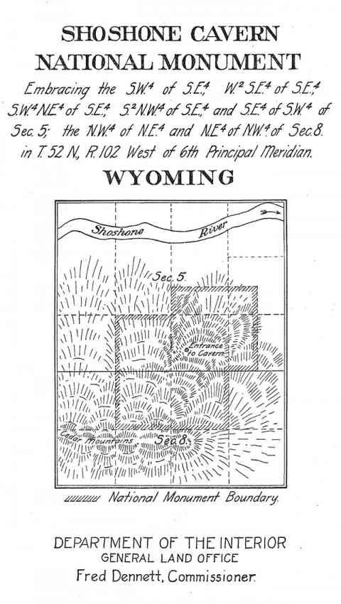 Shoshone Cavern Wyomings Only Delisted National Monument - Map of public caves us