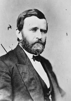President Ulysses S. Grant listened to reformers who argued Indian people should be located on reservations where they could be 'civilized' by schools, Christianity and agriculture. Library of Congress.