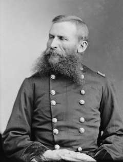 Gen. George Crook, above, and his second in command, Col. Ranald Mackenzie, promised the Northern Cheyenne that if they didn't like living in Indian Territory with their southern relatives, they could return north after a year. Wikipedia.