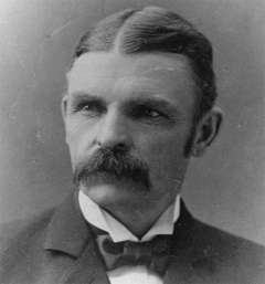 Gov. William Richards, above, indicated he would support actions taken by Constable Mannning and Justice of the Peace Frank Rhoads's efforts to enforce Wyoming's new state game laws. Wikimedia Commons.