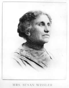 Susan Wissler, Wyoming's first woman mayor, came to Dayton in 1890 and was first elected in 1912. Wyoming State Archives.