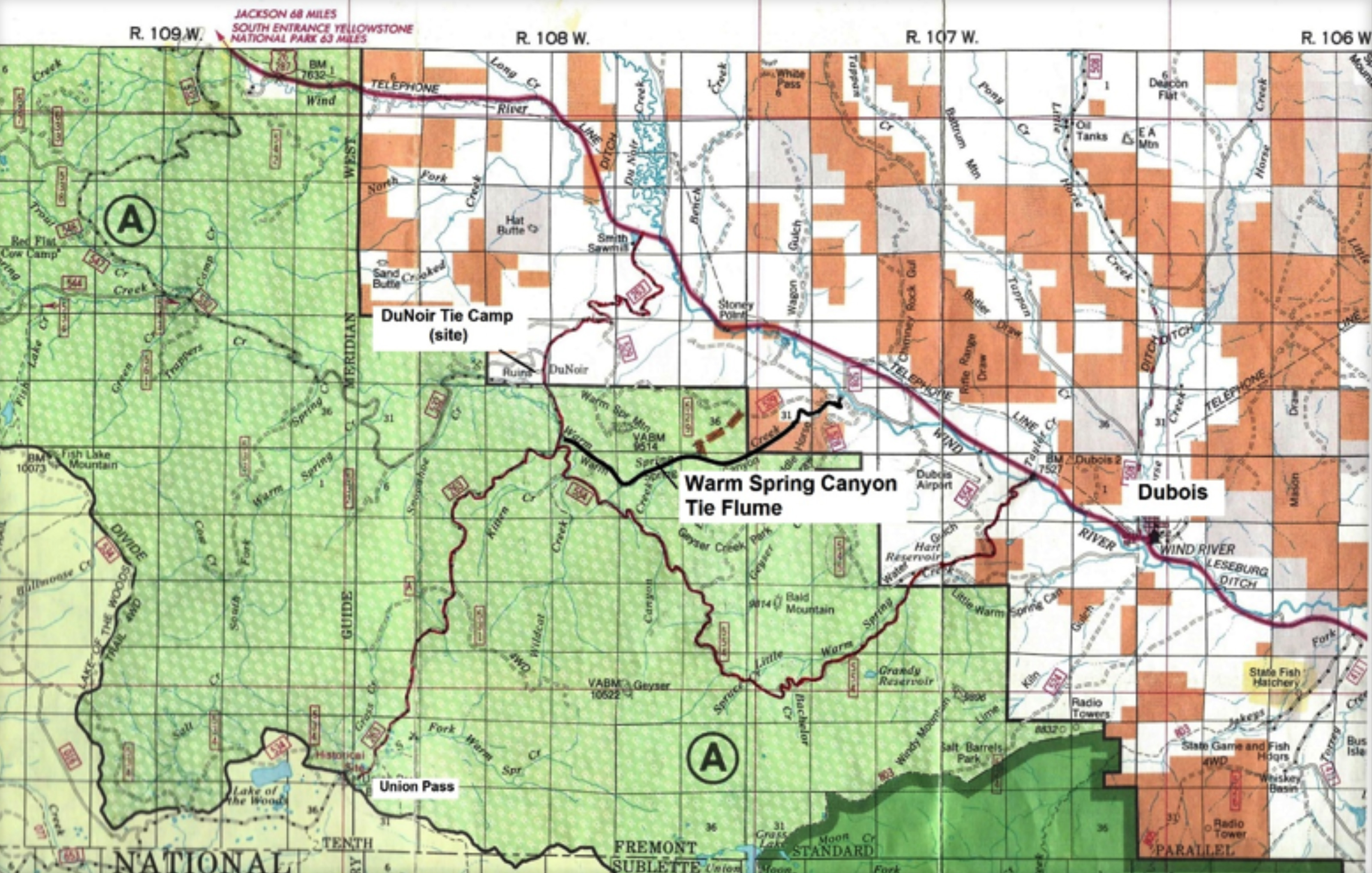 Fremont County Wyoming Map Server.The Warm Spring Canyon Tie Flume Wyohistory Org