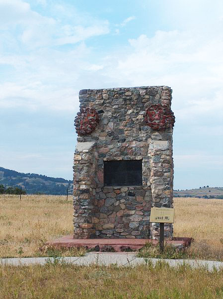 next to the wagon box fight site, wyoming.   Fight site